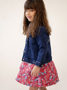 Dark blue denim jacket with embroidery on the back ZOUJINETTE / 21E2PFM3VESP269