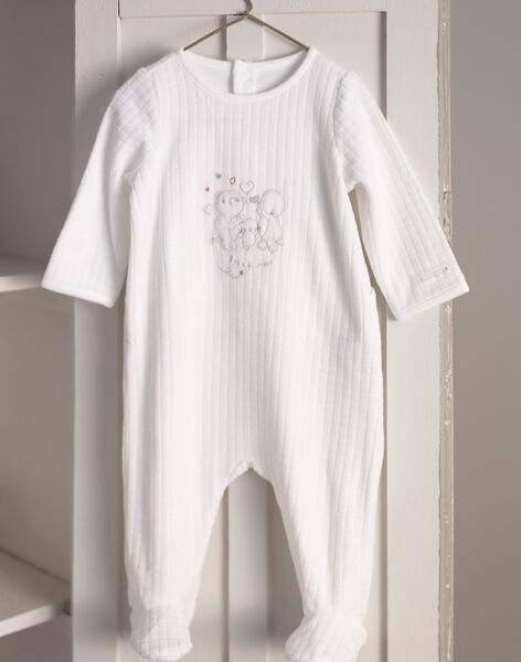 Mixed birth ecru sleep suit and hat BOBILLY / 21H0NM41GRE001