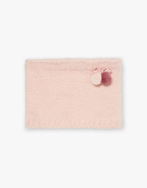 Knitted peach snood ZOUTONETTE / 21E4PFM2SNO311