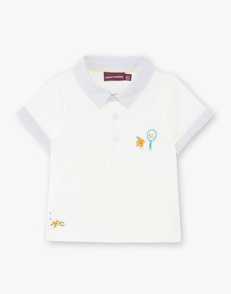 Baby boy ecru polo shirt ZAMATT / 21E1BGO1POL001