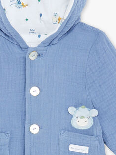 Baby boy blue hooded jacket ZOUHIR / 21E0CGG1VESC203