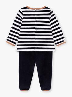 Baby boy's long sleeve teddy bear print pajama set BEAUGUST / 21H5BG61PYJ715