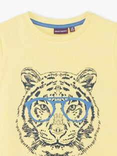 Yellow T-shirt with tiger pattern ZUZAGE2 / 21E3PGL1TMCB117
