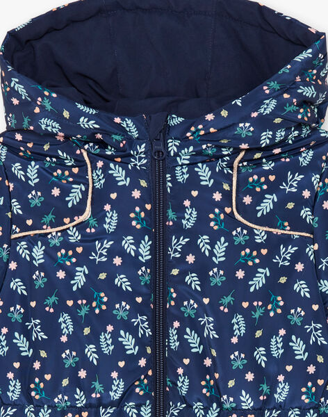 Reversible navy blue hooded parka ZOUREVETTE / 21E2PFM1PAR070