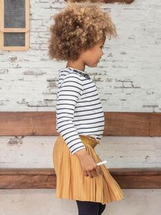 Girl's mustard pleated skirt BROJUPETTE1 / 21H2PFB3JUPB106