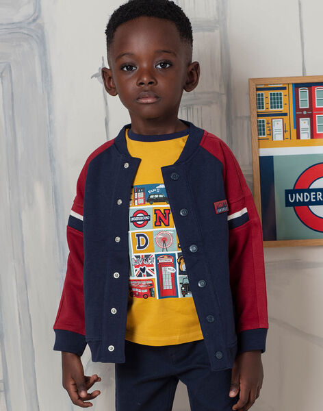 Boy's navy blue and red teddy BEDRAGE / 21H3PG51GIL070