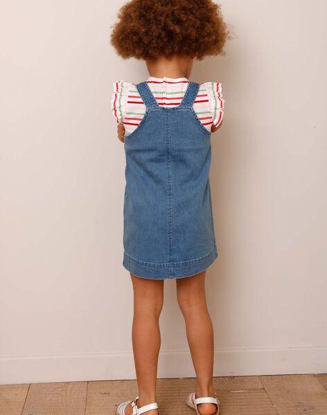 Striped dungarees dress and T-shirt set ZOCHUETTE / 21E2PFJ1ENSP269