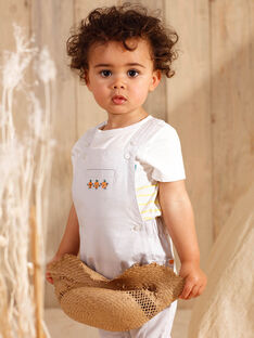 Short dungarees light gray baby boy ZAMATHIS