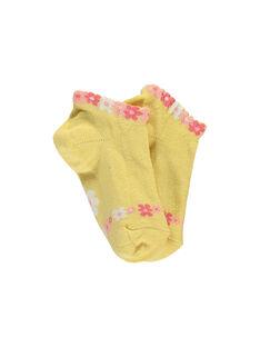 Yellow Low socks RYFAZAETTE / 19E4PFH1SOB010