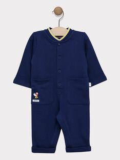 Baby boy's navy jumpsuit SAFELIZ / 19H1BG41CBLC214