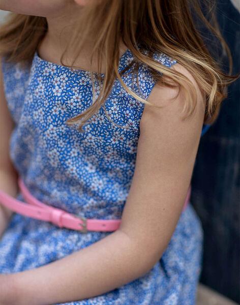 Reversible lavender blue dress with floral pattern child girl ZUREVETTE / 21E2PFT1CHSC208