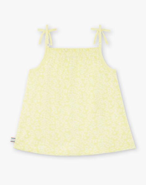 Yellow tank top child girl ZLYNETTE3 / 21E2PFL3DEBB104