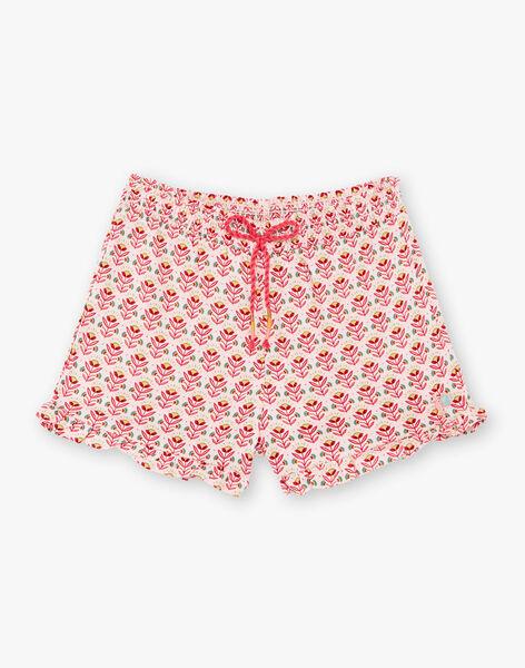 Pink shorts child girl TIUMETTE / 20E2PFQ1SHOD317