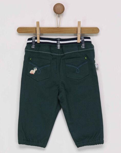 Dark green pants PAMATHIEU / 18H1BGH2PAN060