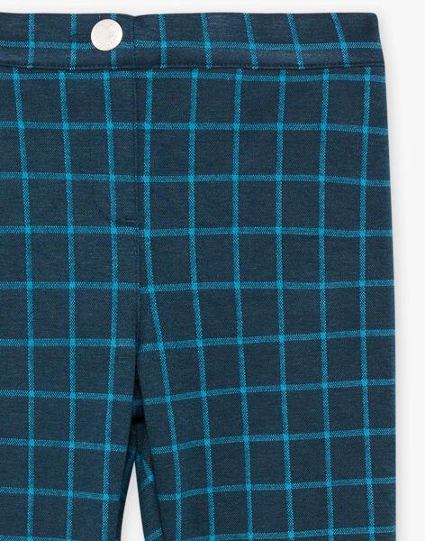 Girl's grey checkered pants BROMILETTE1 / 21H2PFB4PANJ908