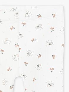 Baby girl ecru squirrel print legging BAORIANE / 21H4BFO1CAL001