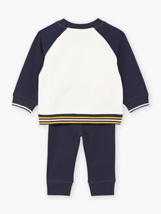 Baby boy's teddy bear sweater and pant set BAFELIPE / 21H1BG51ENS070