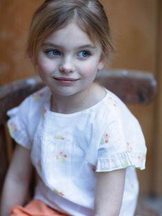 White and yellow blouse child girl ZIBOETTE / 21E2PFO1CHE000