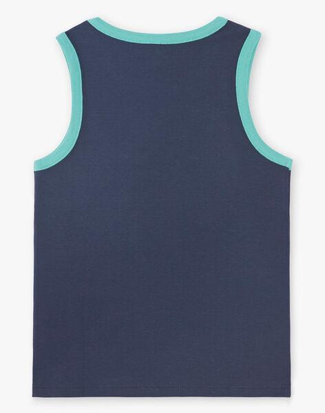 English blue tank top for boys ZUXIAGE2 / 21E3PGL1DEB702