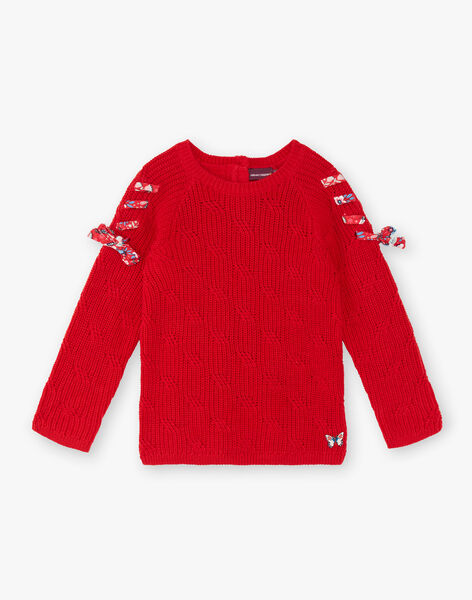 Red sweater child girl ZOPULETTE / 21E2PFB1PUL050