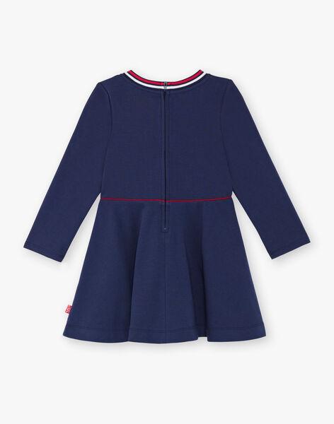 Navy blue dress child girl ZLOMETTE1 / 21E2PFK3ROBC214