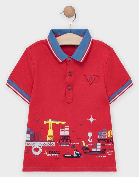 Red Polo shirt TUBOLAGE / 20E3PGW1POL050