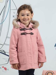 Child girl pink duffle coat BLODUFETTE / 21H2PFD1MAND314