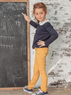 Girl's yellow pants BROSAETTE3 / 21H2PFB6PANB106