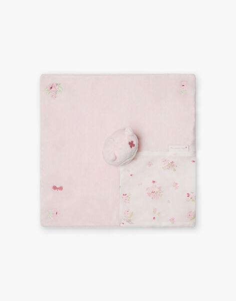 Pale pink teddy bear birth girl BOLILOU / 21H0AF41JOU301