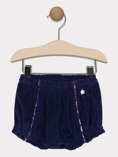 Baby girls' navy bloomer shorts SAELODIE / 19H1BF41SHO070