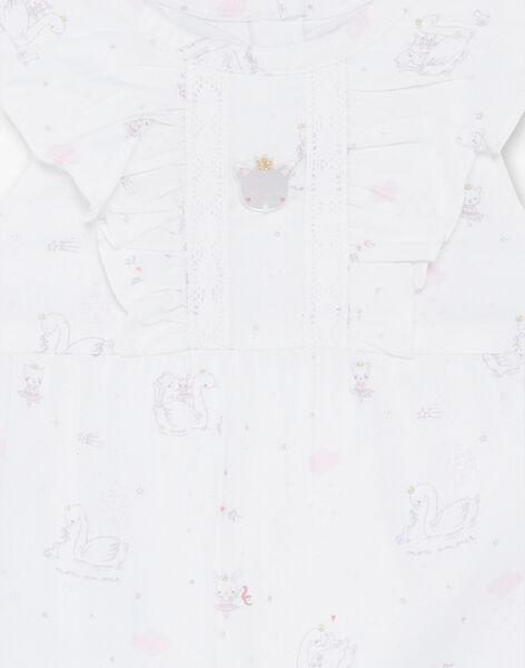 Baby girl bodysuit, dungarees and socks set ZOURA / 21E0CFG3ENS000