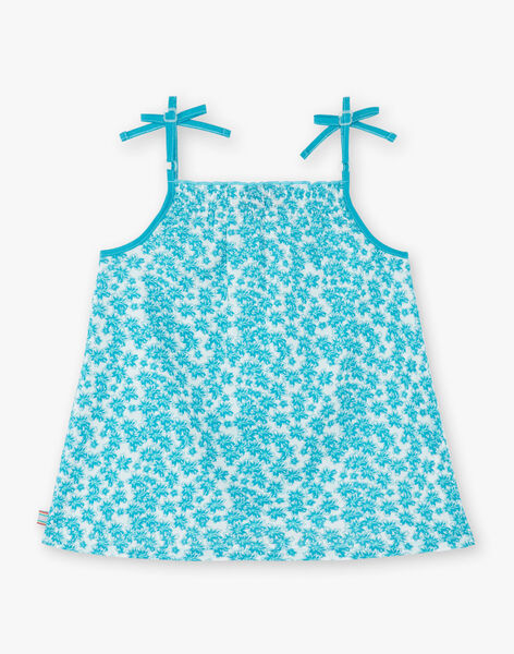 Tank top turquoise child girl ZLYNETTE2 / 21E2PFL1DEB714