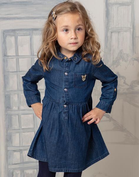 Girl's blue denim dress BIDENETTE / 21H2PF52ROBP274