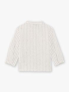Baby Boy's Navy and Ecru Stripe Shirt BADIEGO / 21H1BG21CHM632