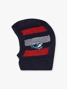 Child boy's striped shark hood BUGOULAGE / 21H4PGE1CAGC205