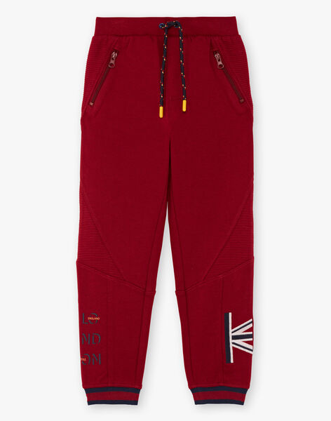 Boy's red jogging suit BEGLIAGE / 21H3PG53PAN503