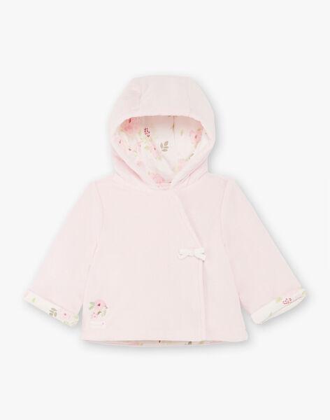 Pink hooded jacket birth girl BONNE / 21H0CF41VES301