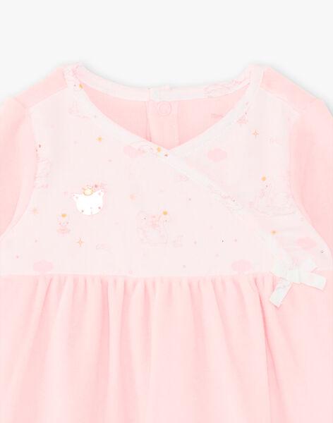Pale pink romper baby girl ZOELINE_B / 21E0NFG2GRE301
