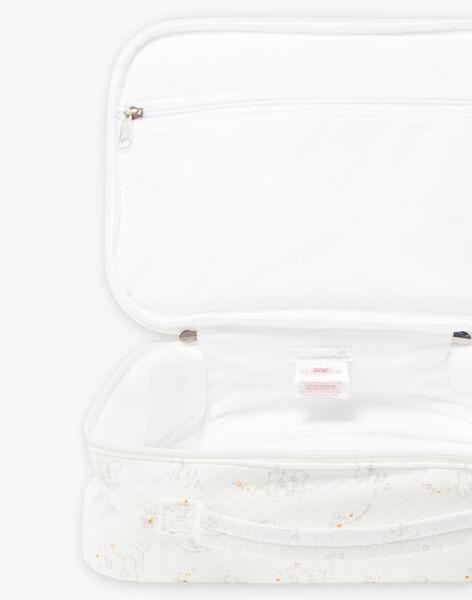Mixed baby birth suitcase in ecru BOJASMIN / 21H0AM41VAL001