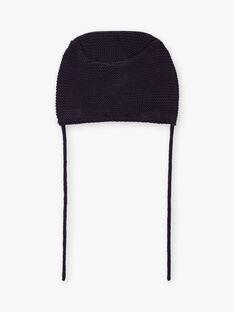 Baby girl navy blue knit hat BINANCY / 21H4BFC2BON070