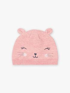 Girl's pink cat hat BLOZAETTE / 21H4PFD3BOND314