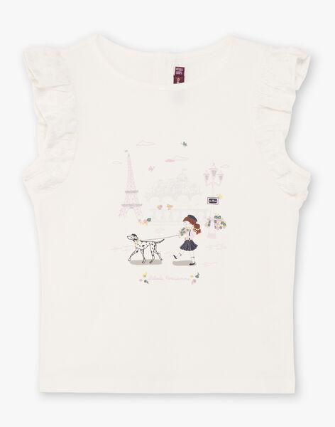 Girl's ecru T-shirt BETOETTE / 21H2PF21TMC001