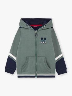 Boy's khaki and navy blue hoodie BAPAGE2 / 21H3PG32JGH604