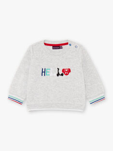 Baby boy's grey mottled long sleeve sweater BABOBO / 21H1BG11SWE943