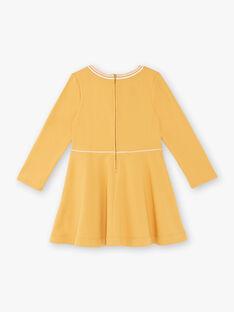 Mustard yellow dress child girl ZLOMETTE3 / 21E2PFK6ROBB106