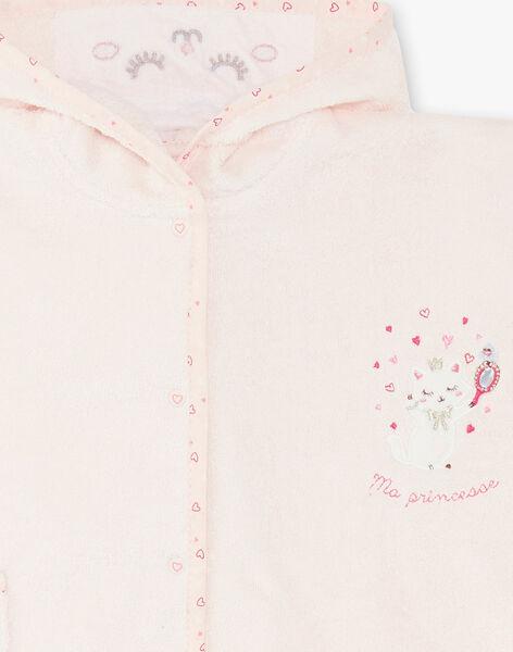 Pink baby girl bath cape ZEKAPE / 21E5BF11CDBD326
