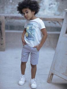 Grey Bermuda shorts boy ZEMAGE / 21E3PGO2BERJ904