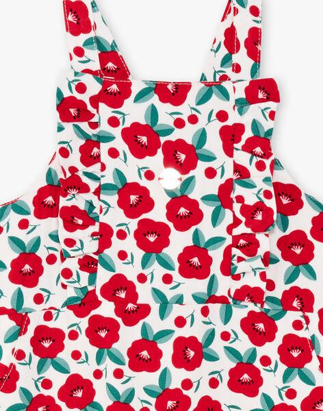 Baby girl floral print overalls BAAGATHE / 21H1BF11SAL001
