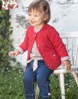 Baby girl's reversible long sleeve cardigan BAANOUK / 21H1BF12CARF505