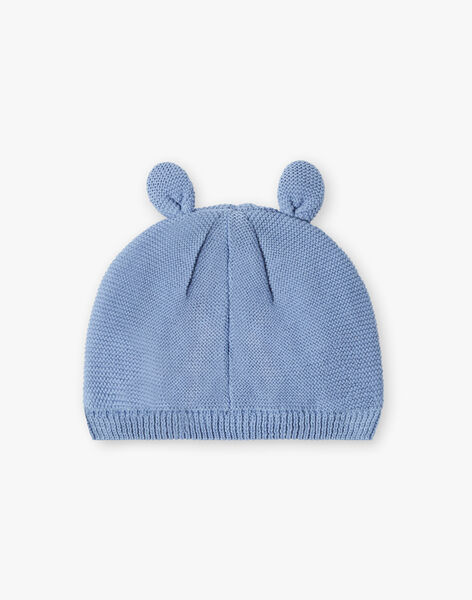 Slate blue knitted birth cap ZOLEON / 21E0AGG1BNAC203